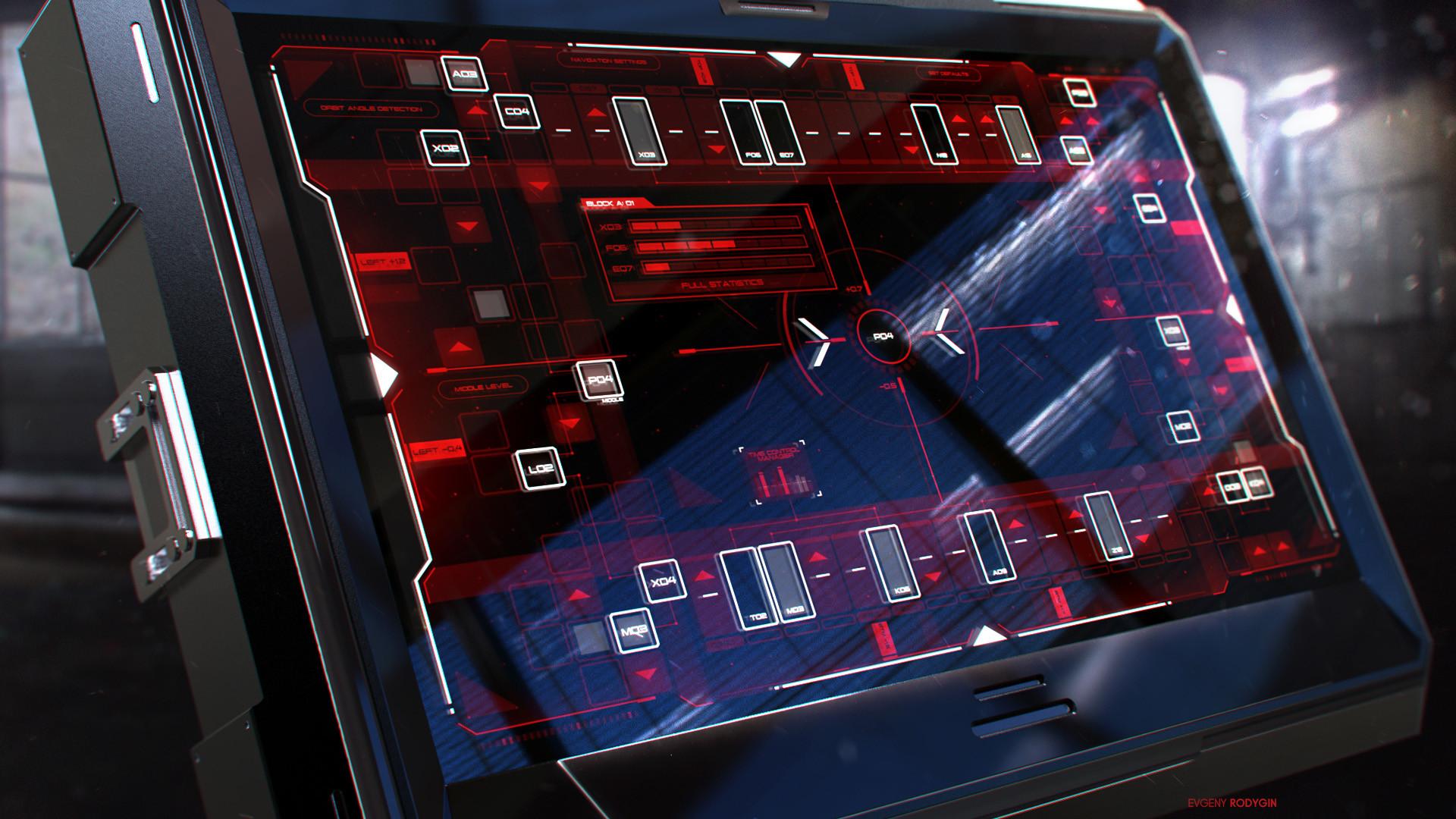 Control Screen Interface FUI